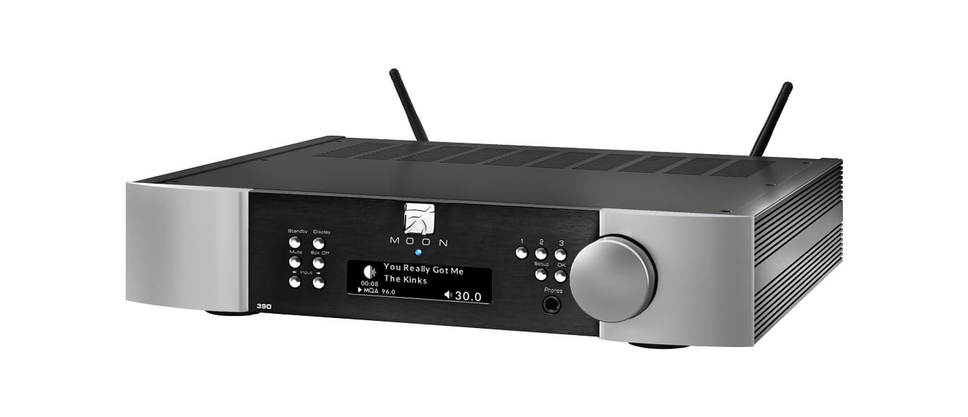 Moon 390 Preamp & network player 2-tones