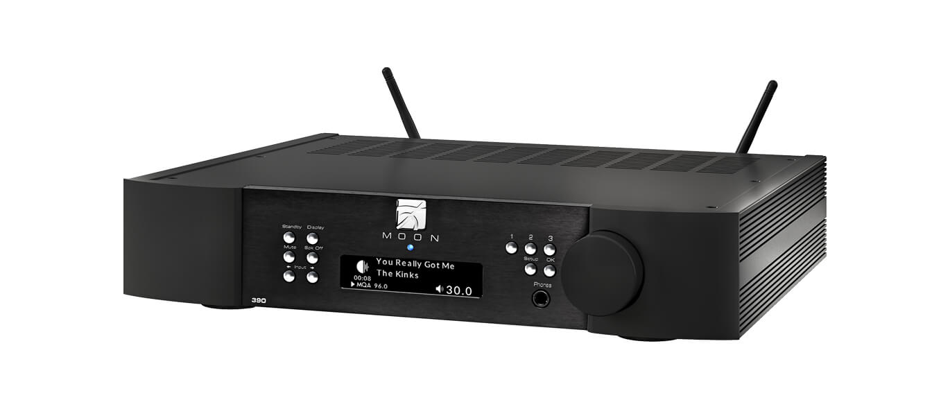 Moon 390 Preamplifier & network player in black