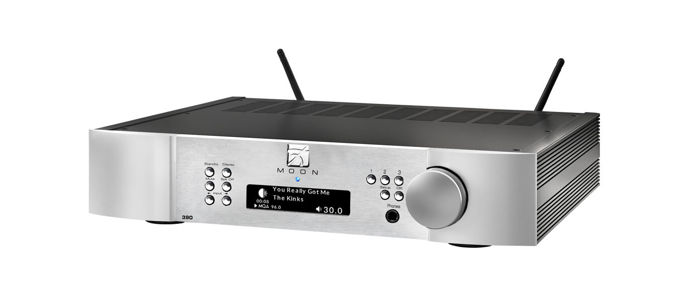 Moon 390 Preamp & network player in silver