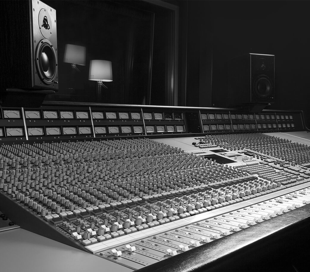 table de mixage studio d'enregistrement
