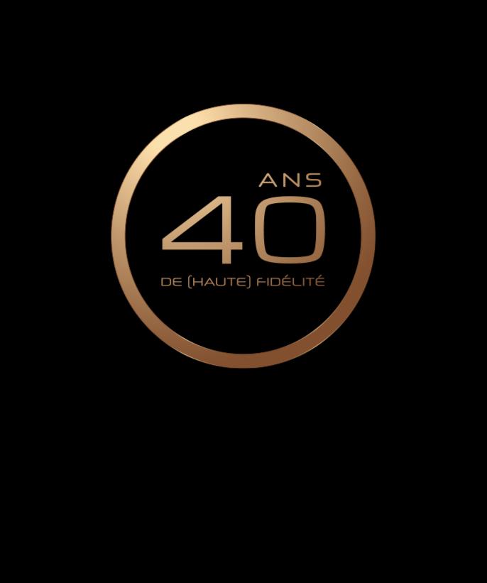 40 de haute fidélité - anniversaire moon - amplificateur haut de gamme - chaîne haute-fidélité